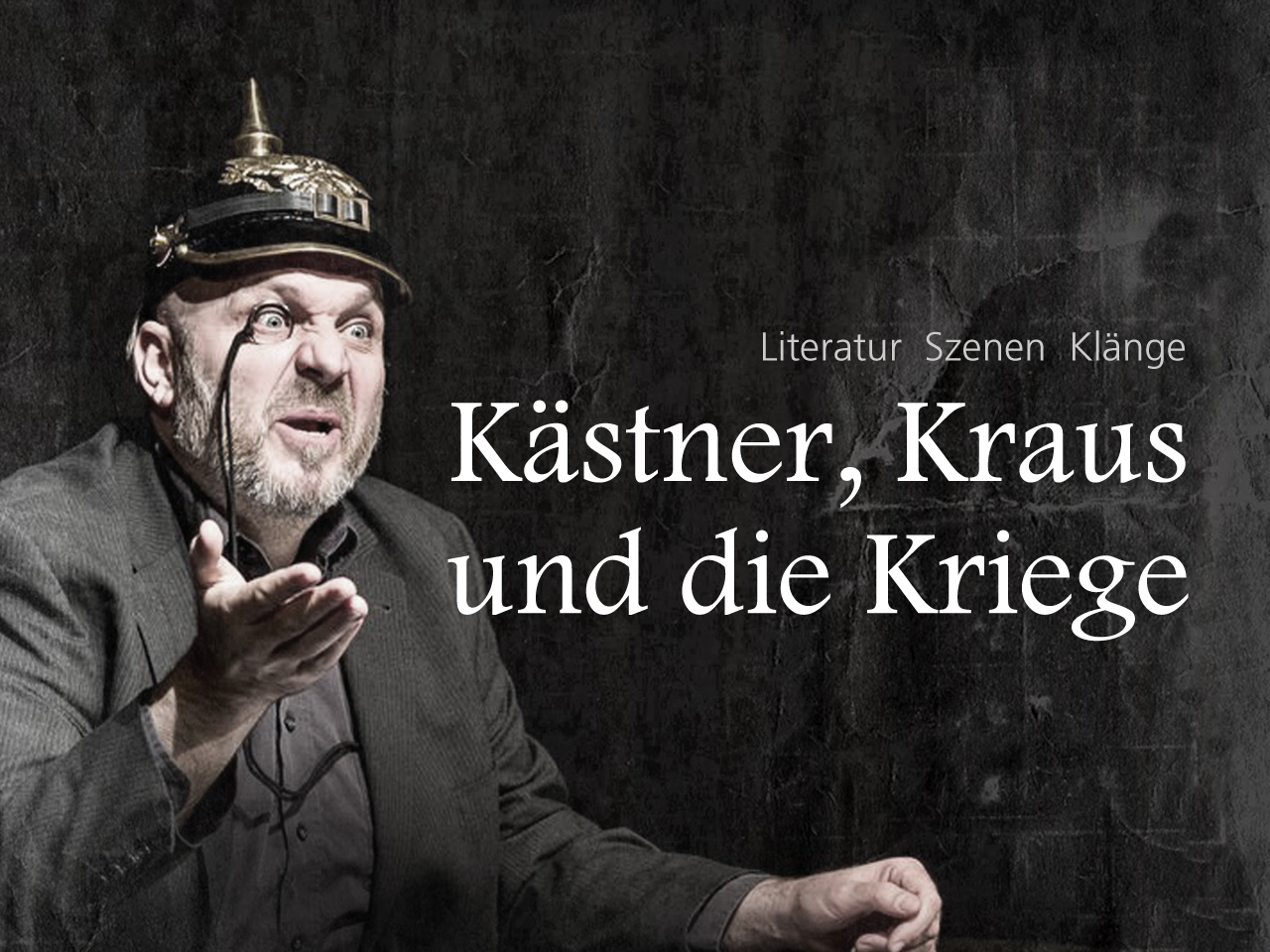 Kästner, Kraus und die Kriege - Szenische Lesung im PEM Theater an den Elbbrücken